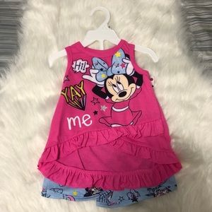 NWT Disney Minnie Mouse Shorts and Shirt Set 12M